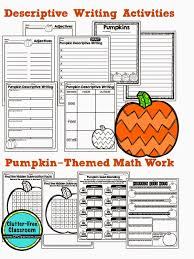 free printable pumpkin activties for math and writing clutter