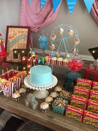 vintage circus theme baby shower created by something blue event
