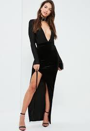 Long Flowy Maxi Skirt Black Lace Up Side Velvet Maxi Skirt Missguided