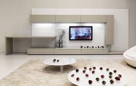 nice grey concrete wall of the modern living room design ideas can