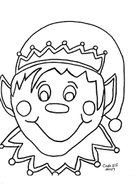 coloring pages of elf christmas elf free coloring page