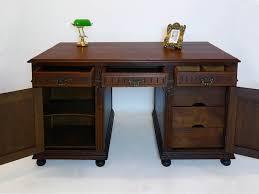 Schreibtisch Holz Mit Schubladen Schreibtisch Partnerdesk Büromöbel Antik Gründerzeit Um 1880 Eiche