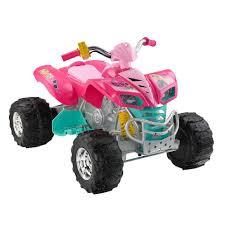 power wheels barbie kawasaki kfx 12 volt ride on toys