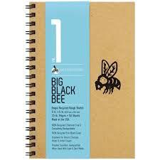big black bee bogus recycled rough sketch journal u2013 bee paper