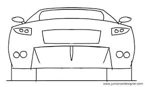 easy car drawing tutorial kids sports car rear junior