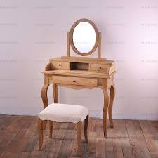 Oak Vanity Table Preferential Export Vintage French Furniture French Country Oak