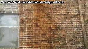 Clean Wall Stains by Removing And Cleaning Rust Stains From Bricks Dallas Fort Worth Tx
