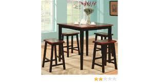 Va Rating Tables by Amazon Com Coaster Black Oak Finish Pub Dining Set Table