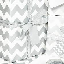 silver wrapping paper silver chevron white wrapping paper by