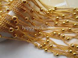 long gold ball necklace images Wholesale plated gold bright bead chains for jewelry making bead jpg