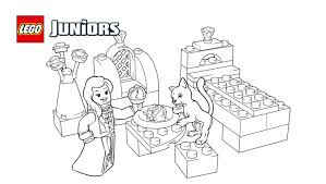lego juniors royal kitten coloring page coloring pages lego