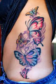 butterfly tattoos traditional butterflies rib butterfly