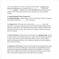 real estate lease template 28 images residential lease