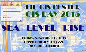 Fiu Campus Map Gis Day 2015 Sea Level Rise Gis Center At Fiu