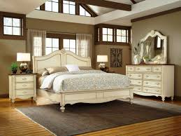 romantic bedroom design with white bed in king size design also