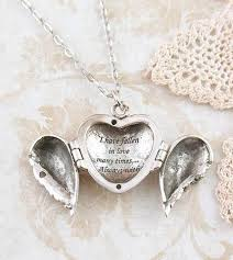 locket necklace with photo images Angel wings heart locket necklace i have fallen in love many jpg