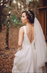 neck white chiffon fabric country western style wedding dress