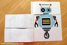 Printable Activity Book Flip A Robot Free Printable Activity Book Gift Of Curiosity
