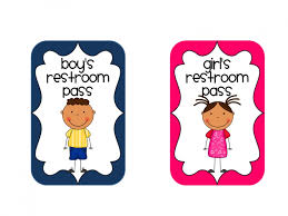 school bathroom clipart with bathroom pass ideas with regard to