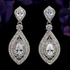chandelier earings bridal chandelier earrings ebay