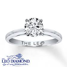 1k engagement rings leo solitaire ring 1 carat 14k white gold
