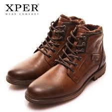 xper autumn winter fashion men boots vintage style casual men