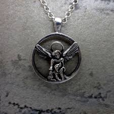 handmade angel necklace images Jewelry cat dog pendant ring sterling silver 14kt gold handmade jpg