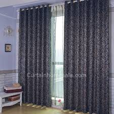 Royal Blue Curtains Interesting Floral Printing Blackout And Thermal Royal Blue Curtains