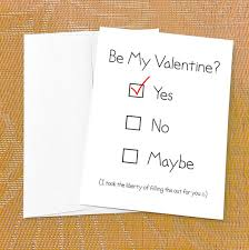 valentines day cards for him valentines day card for boyfriend yes no maybe