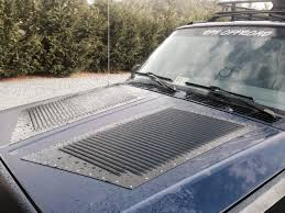 jeep hood vents xxl hi flow install on a jeep cherokee hood louvers runcool