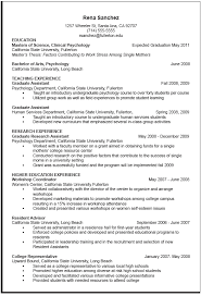Resume For Job Application Example by Resume Example Psychology Doc Tyndale Psychologist Intern