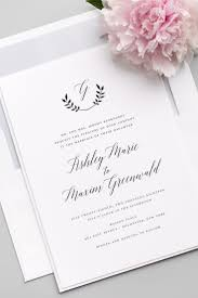 wedding invitations rochester ny invitation wreath monogram wedding invitations 2535297 weddbook