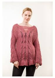 cable sweater knit pink cable sweater knitted ribbon