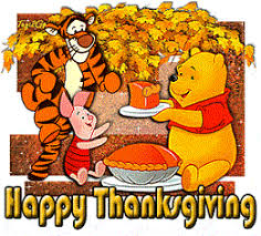 disney characters tigger poo and piglet happy thanksgiving