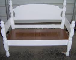 Bed Frame Bench Four Poster Headboard Bench Easy My Repurposed