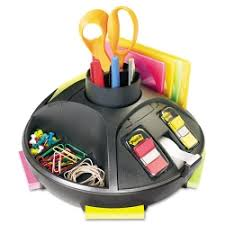 discount post it desk organizer rotary style built in tape
