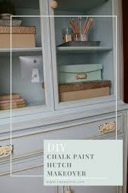 diy chalk paint office hutch makeover amy howard