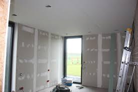 isolation plafond chambre placo suite notre maison passive en paille à coutiches