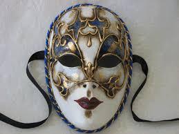 italian masquerade masks 457 volto cordone blue white venetian masquerade mask
