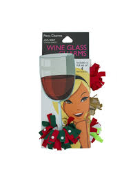 cartoon wine glass cheers pom charms fashion