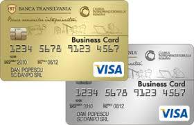 Visa Business Card Carduri De Debit Visa Business Gold Si Silver Banca Transilvania
