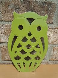 upcycled metal owl trivet 16 00 via etsy green pinterest