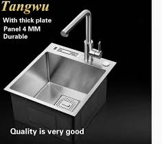 High Quality Kitchen Sinks Tangwu High Quality Kitchen Sink Food Grade 304 Stainless Steel