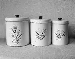 vintage metal kitchen canister sets 178 best vintage canister sets singles images on pinterest