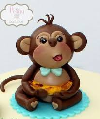 3d cake fondant 3d monkey cake topper
