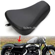 motorcycle driver front leather pillow solo seat cushion for