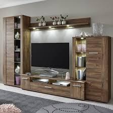 Living Room Furniture Sets Uk Alvin Wooden Living Room Set In Acacia With Led Lighting
