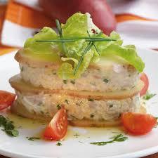 recette de cuisine a base de pomme de terre millefeuille de pommes de terre chérie et tartare de thon cuisine