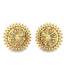 gold ear ring image yellow gold 22k azura gold earring candere