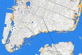 Map Of Lower East Side New York by Nyc Sea Level Map State Adopts Official Climate Change